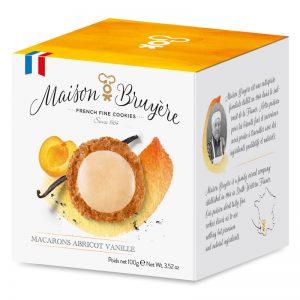 Macarons de Baunilha e Alperce Maison Bruyère 100g