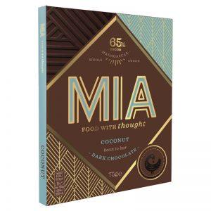 Chocolate Preto 65% com Coco MIA 75g