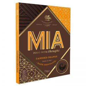 Chocolate Preto 65% com Laranja Cristalizada MIA 75g