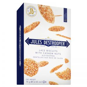 Jules Destrooper Lace Biscuits with Cashew Nuts 75g