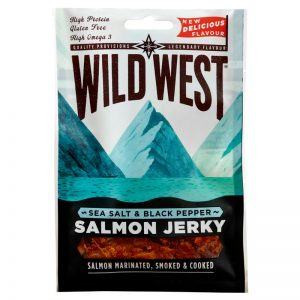 Wild West Sea Salt & Black Pepper Salmon Jerky 30g