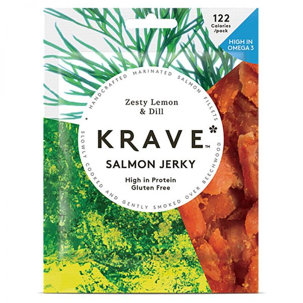 Salmon Jerky com Limão e Endro Krave 30g