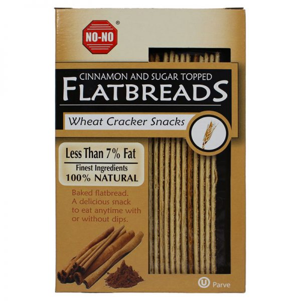 NO-NO No-No Cinnamon and Sugar Topped Flatbreads 125g