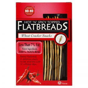 NO-NO No-No Hot´n´Spicy Topped Flatbreads 125g