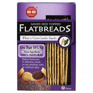 NO-NO No-No Mixed Seed Topped Flatbreads 125g