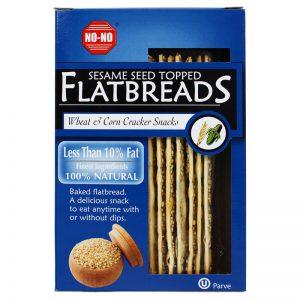 NO-NO No-No Sesame Seed Topped Flatbreads 125g