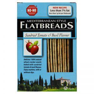 Flatbreads com Tomate Seco e Manjericão NO-NO 125g