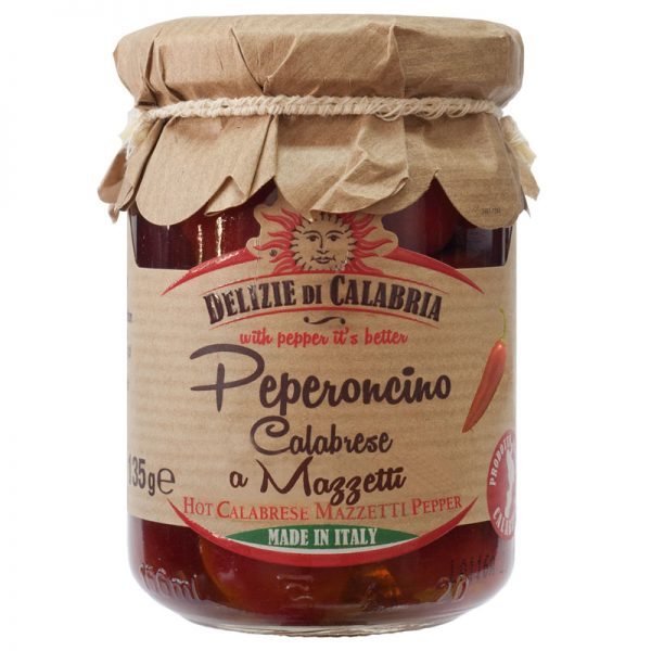 Delizie di Calabria Hot Calabrese Mazzetti Pepper 135g