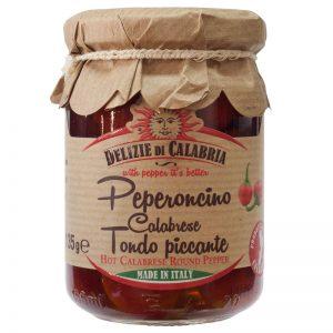 Delizie di Calabria Hot Calabrese Round Pepper 135g