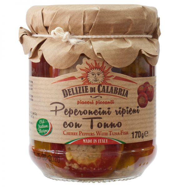 Delizie di Calabria Cherry Peppers with Tuna Fish 170g