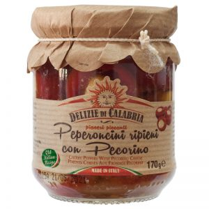 Delizie di Calabria Cherry Peppers with Pecorino Cheese 170g