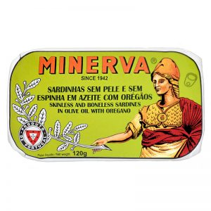Minerva Sardines without Skin and Bones in Olive Oil with Oregano 120g