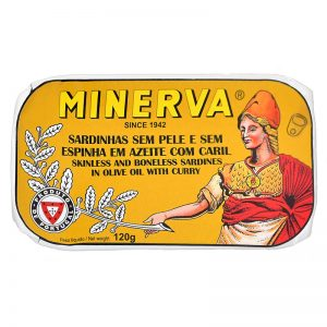 Minerva Sardines without Skin and Bones in Olive Oil with Curry 120g