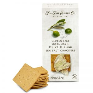 The Fine Cheese Co. Gluten-Free Extra Virgin Olive Oil and Sea Salt Crackers 110g