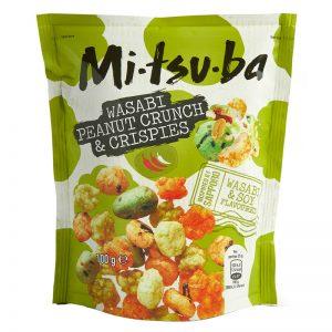 Mitsuba Wasabi Peanut Crunch & Crispies 100g