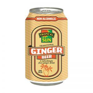 Refrigerante de Gengibre Ginger Beer Tropical Sun 330ml
