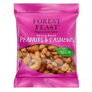 Cajus e Amendoins Torrados com Mel Forest Feast 55g