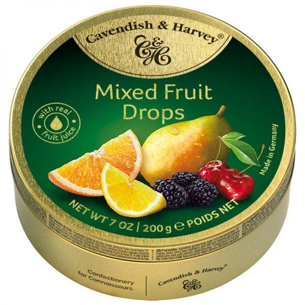 Rebuçados de Tutti-Frutti em Lata Cavendish & Harvey 200g