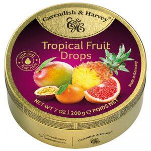 Rebuçados de Frutos Tropicais em Lata Cavendish & Harvey 200g