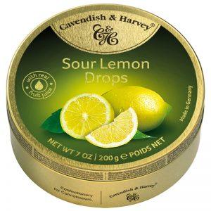 Rebuçados de Limão Amargo em Lata Cavendish & Harvey 200g