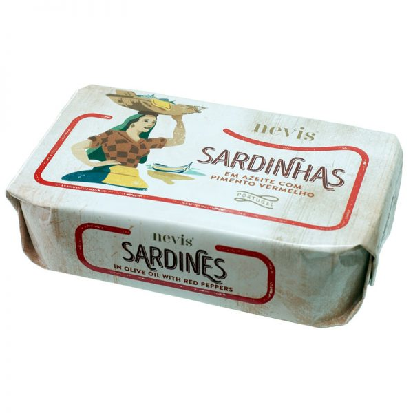 Nevis Sardines with Red Pepper in Olive Oil 120g