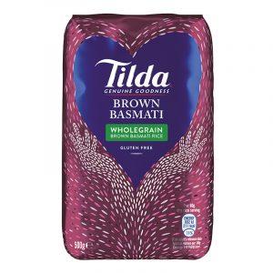 Tilda Wholegrain Brown Basmati Rice 500g