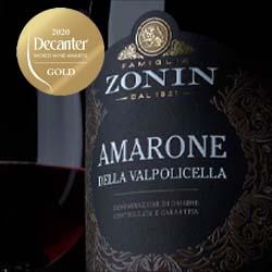 Medalha de Ouro para  o Vinho Amarone da Zonin