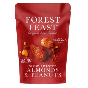 Amêndoas e Amendoins  com Mel e Chilli Forest Feast 120g