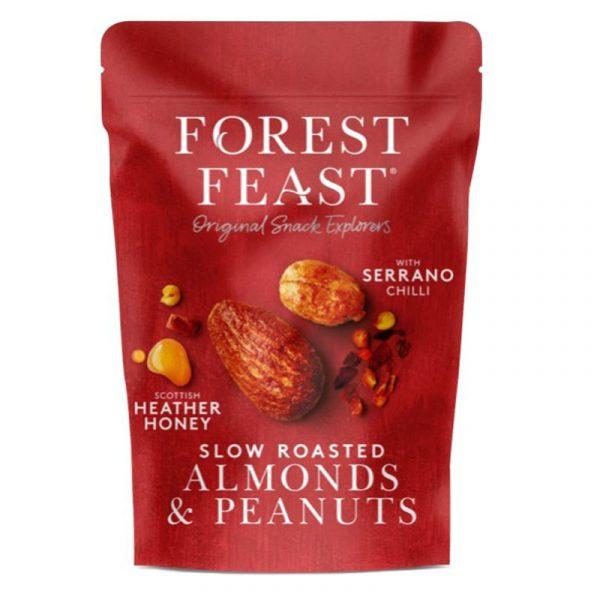 Amêndoas e Amendoins  com Mel e Chilli Forest Feast 120g
