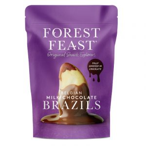Forest Feast Belgian Milk Chocolate Brazil Nuts 120g