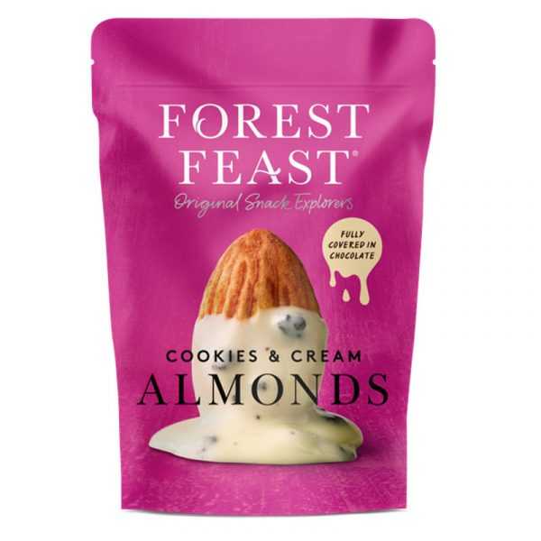 Forest Feast Almonds with White Chocolate and Cookie Nuggets 120g