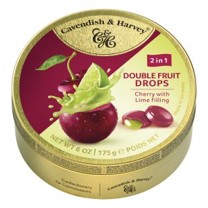 Cavendish & Harvey Cherry Candy with Lime Filling 175g