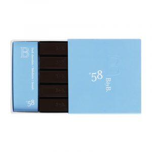 Chocolate Sleeve 58 Preto Caramelo Babelutte e Sal Marinho BbyB Chocolates 55g