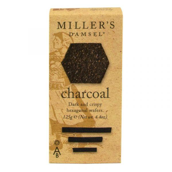 Crackers com carvão Vegetal Millers Damsel Artisan Biscuits 125g