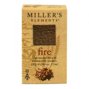 Artisan Biscuits Millers Elements Fire Crackers - Smoked Flour and Red Hot Chilli 100g