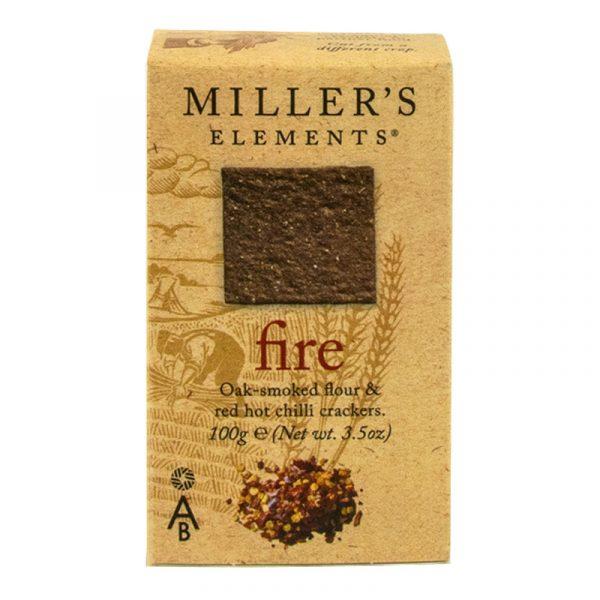 Crackers de Farinha Fumada e Malagueta Vermelha Millers Elements Artisan Biscuits 100g