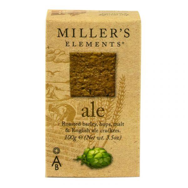Crackers Ale de Cerveja Millers Elements Artisan Biscuits 100g