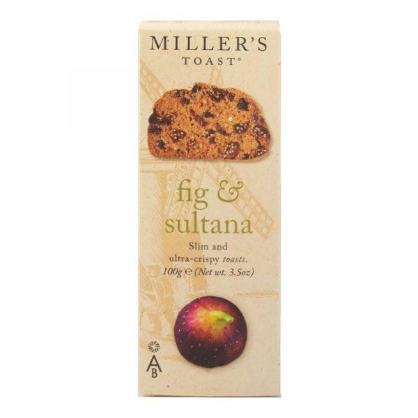 Tostas com Figo e Sultanas Millers Toast Artisan Biscuits 100g