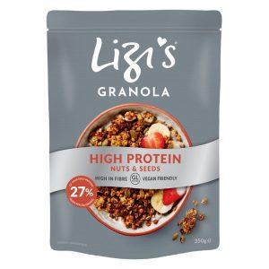 Granola High Protein Nozes e Sementes Lizis 350g