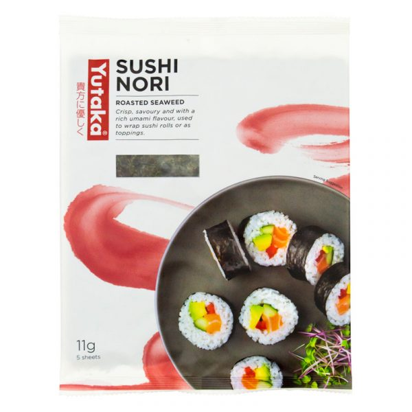 Sushi Nori Algas Marinhas (5 Folhas) Yutaka 11g