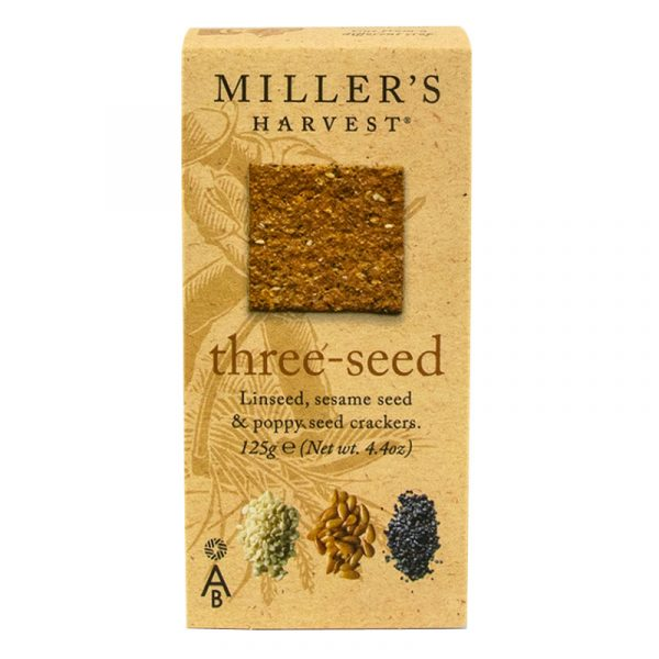 Crackers 3 Sementes Millers Harvest Artisan Biscuits 125g