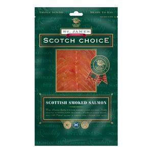 Salmão Fumado Escocês Fatiado Original Scotch Choice St. James Smokehouse 100g
