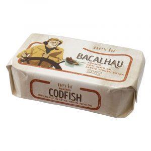 Bacalhau Assado com Alho em Azeite Virgem Extra Nevis 120g